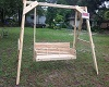 The Villager Garden Swing with 5 ft. wide seat